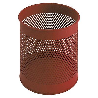 corbeille papier ronde perfor e t le d 39 acier. Black Bedroom Furniture Sets. Home Design Ideas