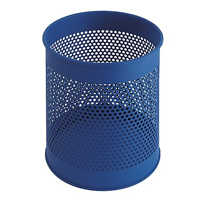 Perforierter Papierkorb, rund - Stahlblech