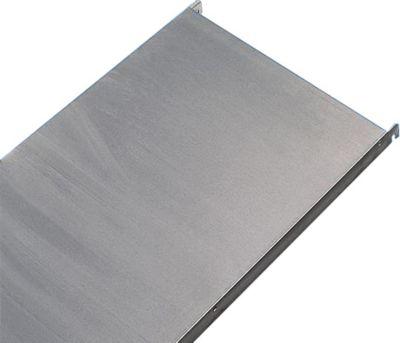 Edelstahl-Steckregal, 4 glatte Fachböden - Fachbodenbreite x Tiefe 740 x 440 mm