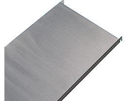 Edelstahl-Fachboden - Eckboden glatt - BxT 640 x 440 mm