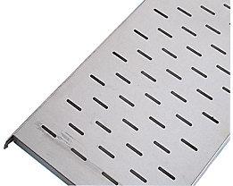 KEK Edelstahl-Fachboden - gelocht - BxT 640 x 440 mm