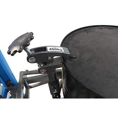 Fasshebe- und Kippgerät, LxBxH 1470 x 1260 x 2040 mm, Tragfähigkeit 400 kg