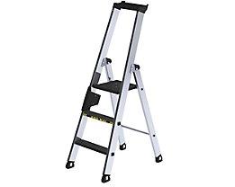 Stufen-Stehleiter - einseitig begehbar, rutschhemmend, belastbar
