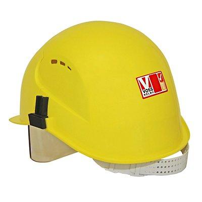 Schutzhelm mit Visier, Polyethylen, gelb