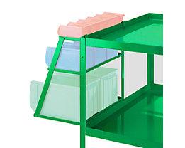 Jeu de bacs à bec - avec support amovible - vert turquoise