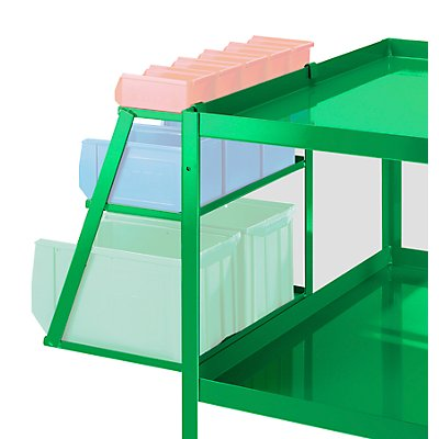 Sichtlagerkästenset - mit Halterung einhängbar