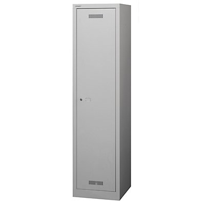 BISLEY MonoBloc™ Garderobenschrank, Abteilbreite 348 mm, einstöckig - 1 Abteil, Breite 422 mm, mit Schwarz/Weiß-Trennung