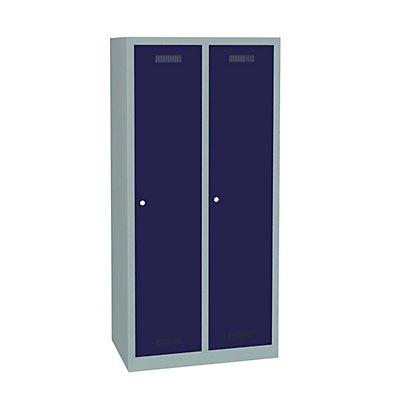 Bisley MonoBloc™ Garderobenschrank - 2 Abteile Breite 400 mm, je 1 Fach mit S/W-Trennung