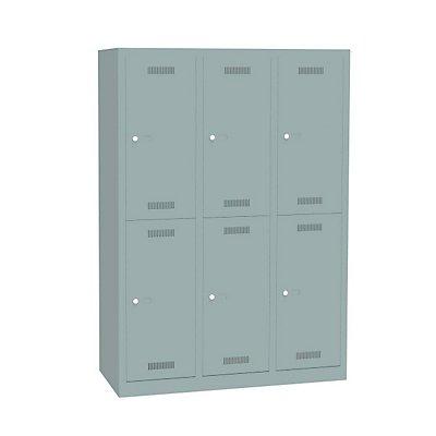 Bisley MonoBloc™ Garderobenschrank - 3 Abteile Breite 400 mm, 6 Fächer
