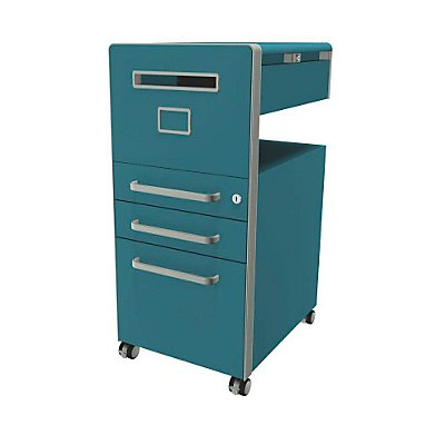 Bisley Assistenzmöbel Bite® - linksseitig öffnend, Whiteboard, 2 Universalschubladen, 1 HR-Schublade | BTBACPLWIIF666