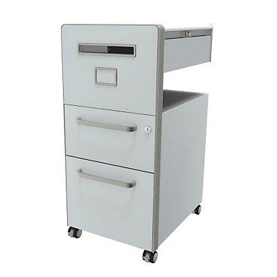 Bisley Assistenzmöbel Bite® - linksseitig öffnend, Whiteboard, 1 Universalschublade, 1 HR-Schublade