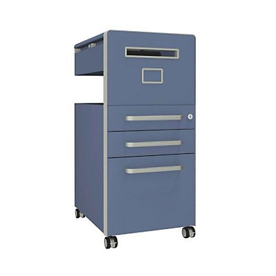 Bisley Assistenzmöbel Bite® - rechtsseitig öffnend, Whiteboard, 2 Universalschubladen, 1 HR-Schublade