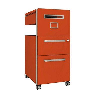 Bisley Assistenzmöbel Bite® - rechtsseitig öffnend, Whiteboard, 1 Universalschublade, 1 HR-Schublade