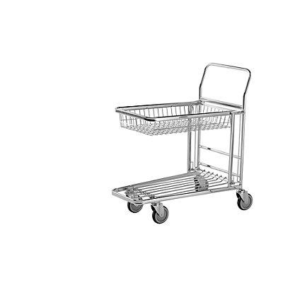 Einkaufswagen, verzinkt - LxBxH 870 x 530 x 1010 mm, Tragfähigkeit 300 kg