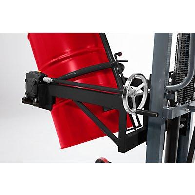 Fasshebe- und Kippgerät, Tragfähigkeit 400 kg, LxBxH 1220 x 1100 x 1950 mm