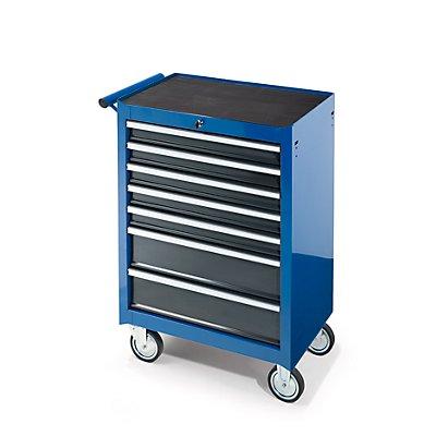 Werkstattwagen, HxBxT 995 x 680 x 458 mm, 7 Schubladen, blau
