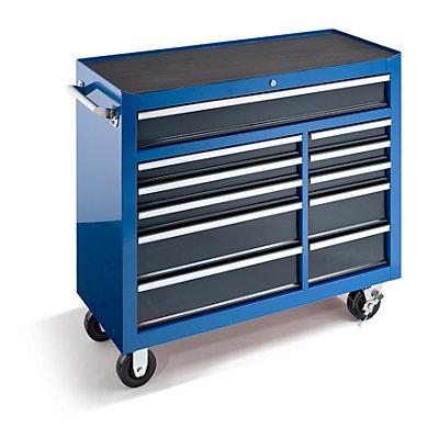 werkstattwagen hxbxt 1007 x 1067 x 458 mm 11 schubladen blau. Black Bedroom Furniture Sets. Home Design Ideas