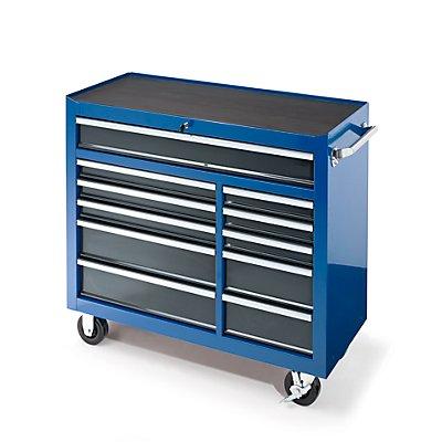 Werkstattwagen, HxBxT 1007 x 1067 x 458 mm, 11 Schubladen, blau
