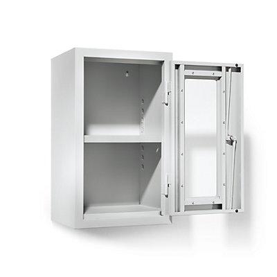 QUIPO Werkstatt-Hängeschrank - HxBxT 600 x 350 x 320 mm, Sichtfenstertüren