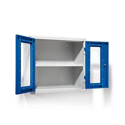 QUIPO Werkstatt-Hängeschrank - HxBxT 600 x 650 x 320 mm, Sichtfenstertüren