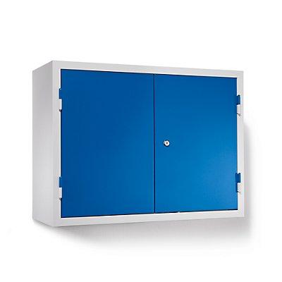 QUIPO Werkstatt-Hängeschrank - HxBxT 600 x 800 x 320 mm, Vollblechtüren, mit 2 Fachböden