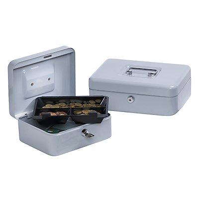 Geldkassette, Grundversion, lichtgrau, HxBxT 90 x 200 x 160 mm