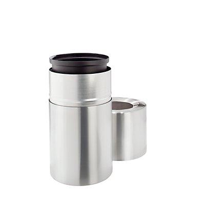 Design-Abfallsammler, 70 l, Aluminium, mit Innenbehälter