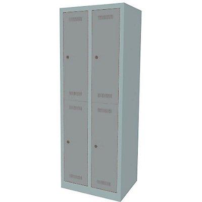 Bisley MonoBloc™ Garderobenschrank - 2 Abteile Breite 300 mm, 4 Fächer