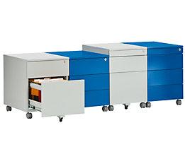 Rollcontainer aus Stahl - 3 Materialschübe
