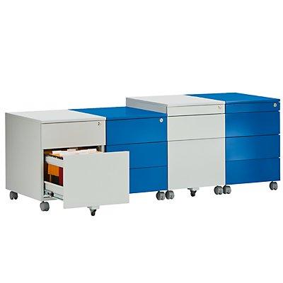Rollcontainer aus Stahl - 1 Materialschub, 1 Hängeregistratur