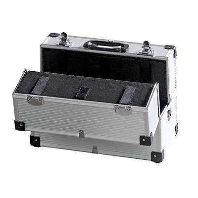 Werkzeugbox, 2 Kofferschlösser, mit breitem Kantenprofil, Außen-LxBxH 365 x 220 x 250 mm