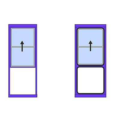 Fenster für Mehrzweckhaus - Hebe-Schiebefenster, nach oben - HxB 1400 x 1000 mm