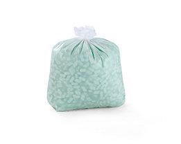Sacs plastique - sacs-poubelle - capacité 60 l, l x h 600 x 700 mm, blanc, lot de 250