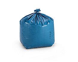 Sacs-poubelle en polyéthylène - capacité 80 l - L x l x h 500 x 450 x 900 mm, bleu, lot de 150