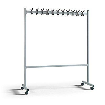 QUIPO Garderobenständer, alusilber - HxT 1700 x 550 mm