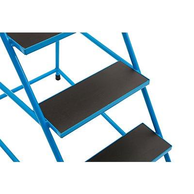 EUROKRAFT Mobiler Leiterntritt - mit Siebdruckplatte
