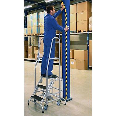 EUROKRAFT Mobile Stehleiter - mit 5 Stufen
