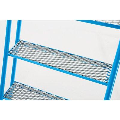 EUROKRAFT Mobile Stehleiter mit Plattform - 4 Stufen, mit Geländer