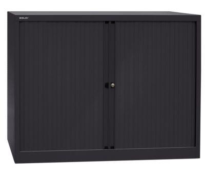 bisley  Bisley Armoire à rideaux Euro, largeur 1200 mm, 2 tablettes, noir... par LeGuide.com Publicité