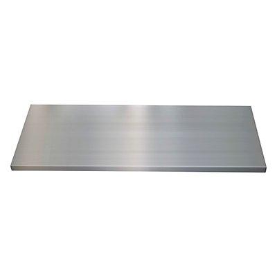 Tablette avec dispositif d'accrochage latéral - l x p 914 x 400 mm - gris clair