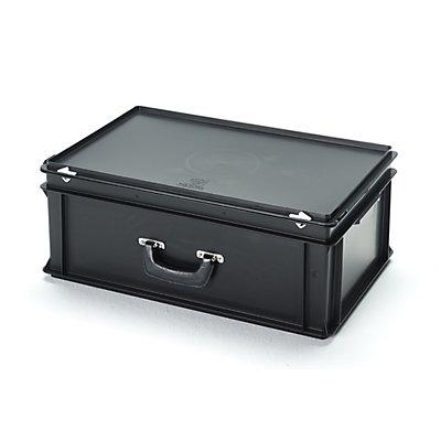 utz ESD-Kunststoffkoffer - Inhalt 40 l, Außenmaß LxBxH 600 x 400 x 235 mm
