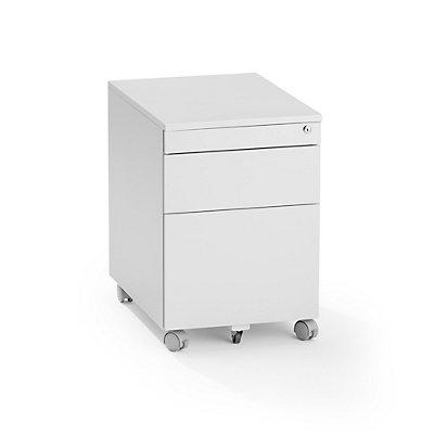 Rollcontainer aus Stahl - 1 Materialschub, 1 Hängeregistratur, 1 Utensilienschub