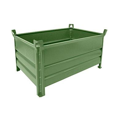 Heson Vollwand-Stapelbehälter, BxL 800 x 1200 mm - Füllhöhe 500 mm, Traglast 500 kg