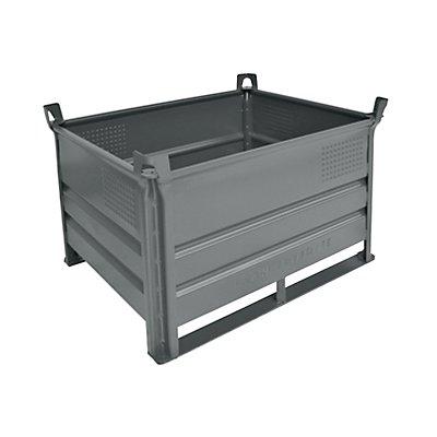 Heson Stapelbehälter mit Kufen, Traglast 500 kg - LxB 1000 x 800 mm