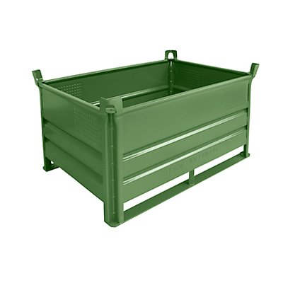 Heson Stapelbehälter mit Kufen, Traglast 500 kg - LxB 1200 x 800 mm