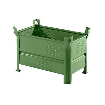 Heson Vollwand-Stapelbehälter, BxL 500 x 800 mm - Füllhöhe 400 mm, Traglast 1000 kg
