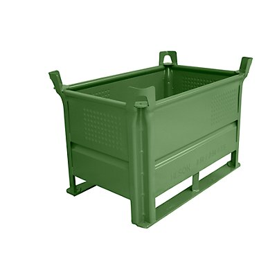 Heson Stapelbehälter mit Kufen, Traglast 1000 kg - LxB 800 x 500 mm