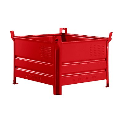 Heson Stapelbehälter mit Kufen, Traglast 2000 kg - LxB 1000 x 800 mm