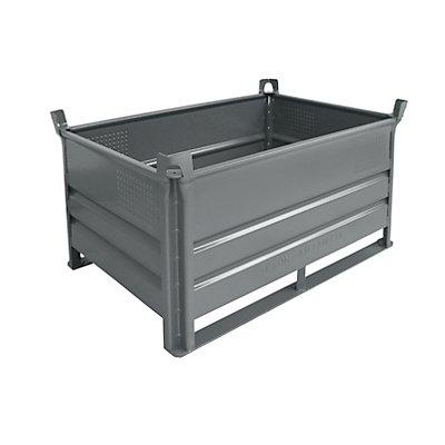 Heson Stapelbehälter mit Kufen, Traglast 1000 kg - LxB 1200 x 800 mm