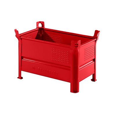 Heson Vollwand-Stapelbehälter, BxL 500 x 800 mm - Füllhöhe 400 mm, Traglast 2000 kg